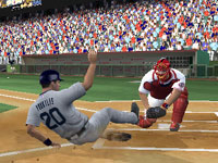 Sliding into a tag at home in MLB 10: The Show