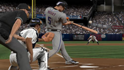 Playing as catcher against the Mets in MLB 10: The Show