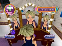 Character customization via hair changes in Dance Sensation!