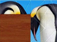 Two Emperor Penguins in a puzzle from Jigapix: Wonderful World