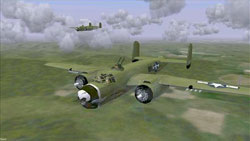 American bomber squadron over Europe in WarBirds: Dogfights