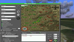 Terrain, mission and plane options screen from WarBirds: Dogfights