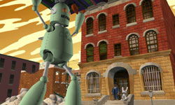 Maimtron 9000 fulfilling his function in Sam & Max: Beyond Time and Space