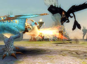 The hot fire of a Deadly Nadder in action in How to Train Your Dragon the Game