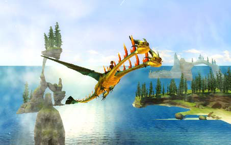 Amazon how to train your dragon nintendo wii video games a hideous zippleback in flight in how to train your dragon the game ccuart Images