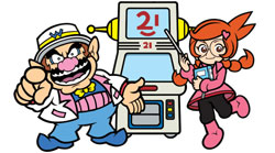 Wario, the Super MakerMatic 21 and game design assistant Penny from WarioWare D.I.Y.
