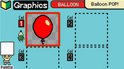 Creating micro-game and comic strip graphics in WarioWare D.I.Y.