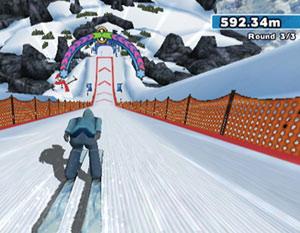 Ski jumping screen from Winter Blast: 9 Snow & Ice Games