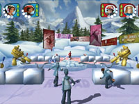 Multiplayer Snowball fighting in Winter Blast: 9 Snow & Ice Games