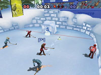 Multiplayer Ice Hockey in Winter Blast: 9 Snow & Ice Games