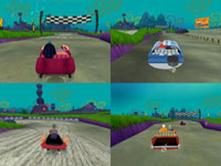 4-player split-screen action from Spongebob's Boating Bash