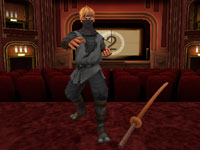 Using the Wii Remote to control a katana sword in All Star Karate