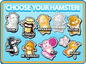Hamster selection screen from Zhu Zhu Pets