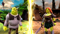 Play as Shrek, Fiona, Donkey and Puss In Boots