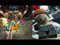 Split-screen functionality in LEGO Star Wars III: The Clone Wars for Wii