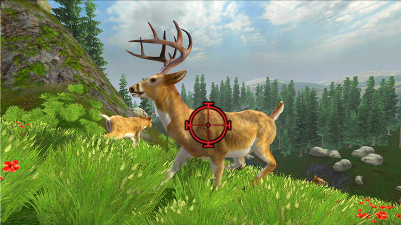 Stationary buck targeted close-up in Cabela's Monster Buck Hunter