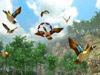 Targeting birds in the air in Cabela's Monster Buck Hunter