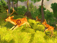 Targeting bucks on the move up a mountain slope in Cabela's Monster Buck Hunter