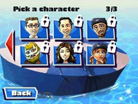 A variety of playable characters to choose from in Wipeout: the Game