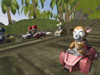 Multiplayer screen from ModNation Racers for PSP