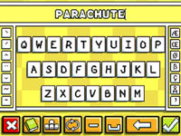Word and phrase input screen from Super Scribblenauts