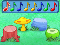Drumming mini-game from Dora the Explorer: Dora's Big Birthday Adventure