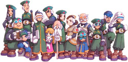 Character art available through the Art Gallery feature built into the Mega Man Zero Collection