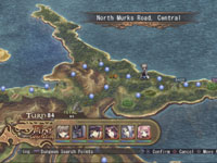 Interactive battle map from Record of Agarest War