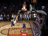Amare Stoudemire spending some time above the rim in NBA JAM