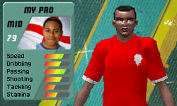Customization of a pro player in FIFA Soccer 11 for DS
