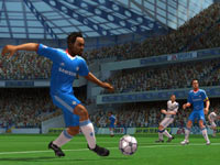 All alone with the ball in the open field in FIFA Soccer 11 for Wii
