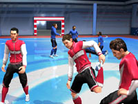 Warming up before a match in FIFA Soccer 11 for Wii