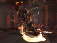 Kratos versus a minataur like boss in God of War: Ghost of Sparta