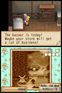 The day of the bazaar in Harvest Moon: Grand Bazaar