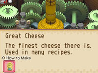 Making cheese at the windmill in Harvest Moon: Grand Bazaar