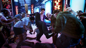 Frank West kicking zombie tail in Dead Rising 2: Off The Record