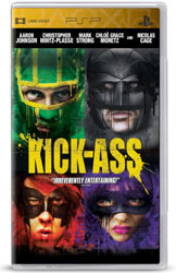 PSP oriented cover for the movie Kick-Ass, included in the PSP Limited Edition God of War: Ghost of Sparta Entertainment Pack