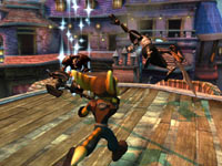 Ratchet wielding an axe-like weapon in PlayStation Move Heroes