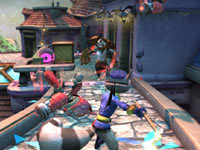 Sly Cooper battling enemies in PlayStation Move Heroes