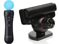 PlayStation Move motion controller and PlayStation Eye used in PlayStation Move Heroes