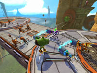 Four-player co-op screen from Ratchet & Clank: All 4 One
