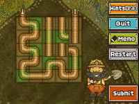 Sliding tunnel type puzzle from Professor Layton and the Unwound Future