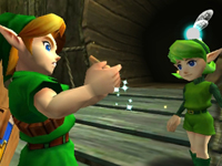 Link receiving his ocarina in The Legend of Zelda: Ocarina of Time 3D