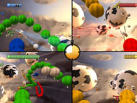 4-player split-screen action from Raving Rabbids: Travel in Time