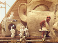 Cutscene from Raving Rabbids: Travel in Time based in Ancient Egypt