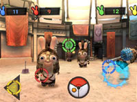 Arcade style shooter mini-game from Raving Rabbids: Travel in Time