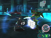Sword stroke highlighting PSP controls in Phantasy Star Portable 2