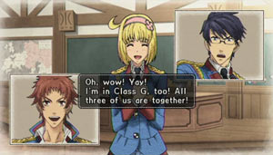 Cadets chatting prior to battle in Valkyria Chronicles 2