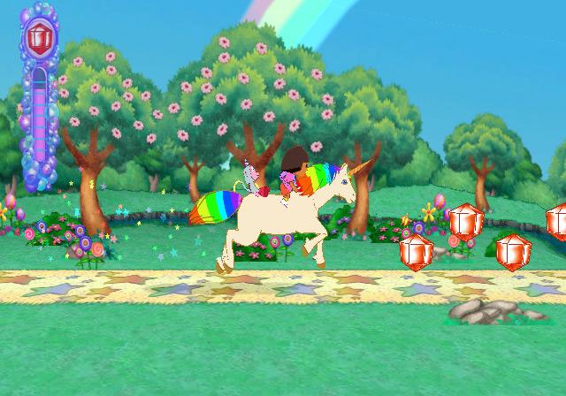 collectable gems in Dora the Explorer: Dora's Big Birthday Adventure