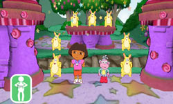 Playing a mini-game in Dora the Explorer: Dora's Big Birthday Adventure
